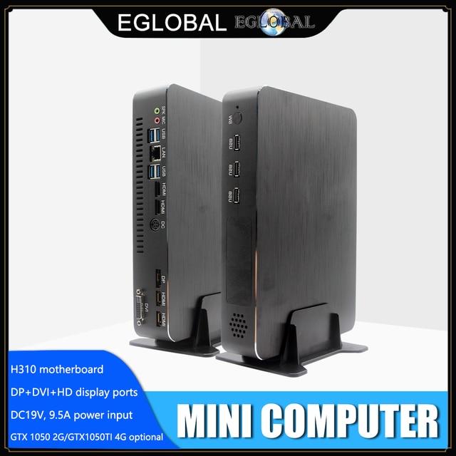 Игровой компьютер Intel i5 9400F 6 ядер 6 потоков i7 8700 i3 9100F Nvidia GTX 1050TI мини ПК 2 * DDR4 2 * HDMI 2,0 1 * DP 1 * DVI WiFi