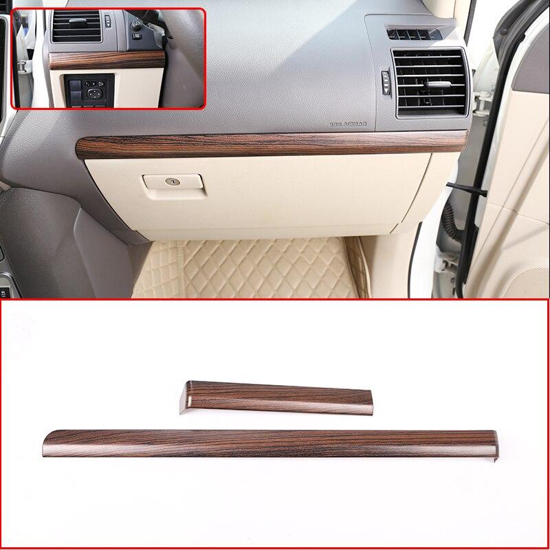 LHD voiture ABS intérieur côté passager décoration bande garniture pour Toyota Land Cruiser Prado FJ150 150 2010-2018 Grain de bois de pin