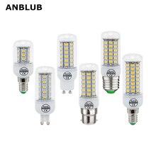 ANBLUB LED Lamp E27 E14 B22 G9 GU10 Light 220V SMD 5730 for Chandelier Spotlight 24 36 48 56 69 72LEDs Corn Bulb Home Lighting