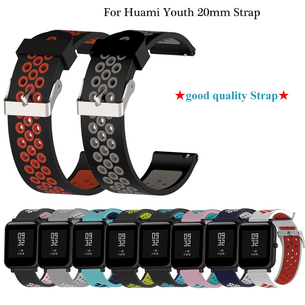 20mm Silicone Watchband For Huami Xiaomi Amazfit Bip Strap Galaxy Watch Active Strap 22mm For Samsung Galaxy 46mm Gear S3 Band