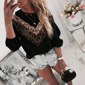LASPERAL Casual Sweaters Pullover Patchwork Knitted Long-Sleeve Fashion Women Tops O-Neck
