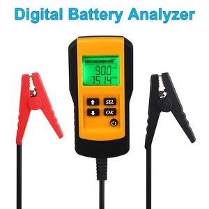 Image 1 - جهاز اختبار بطارية السيارة ، 12 فولت ، رقمي ، CCA ، محلل عمر البطارية ، جهاز اختبار حمل بطارية السيارة ، أداة تشخيص لجل الفيضانات AGM