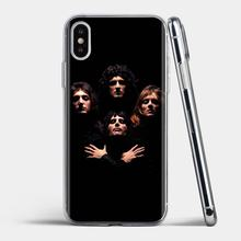 Lembut TPU Phone Case untuk Samsung Galaxy S6 S10E S10 Edge Lite Plus Inti Grand Prime Alpha J1 Mini Queen grup Rock(China)