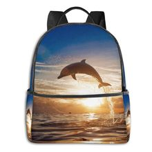 2020 Hot Sale Women Men Dolphin Leaping Jumping From Shining Sunset Sea Water Su