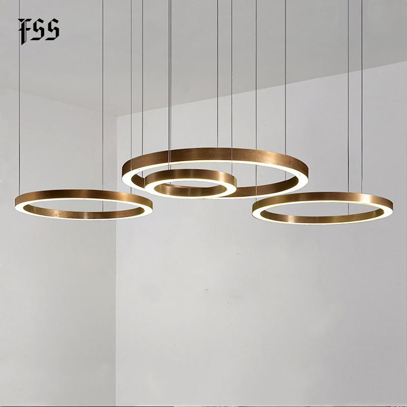 Fss Modern Gold Ring Design Led Round Chandeliers Lamp Chandelier Lighting For Living Room Projects Lights Indoor Light Fixtures