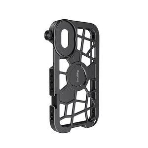 Image 3 - SmallRig Pro נייד כלוב עבור iPhone X/XS הדוק Vlogging וידאו ירי כלוב עם קר נעל הר 2414
