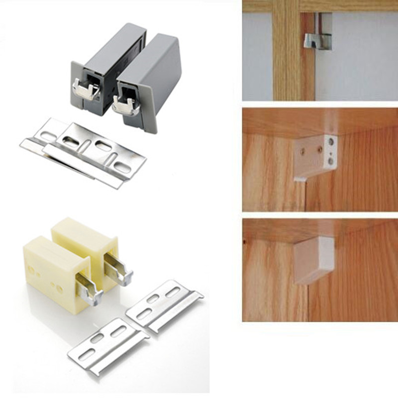 Cupboard Screw Suspension Connector Wall Cabinet Mounting Hook Furniture Camar Hanger For Cupboard Load Weight Accessories