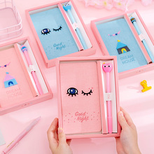 2020 Cartoon Handbook Girl Net Red Set Loose Page Square Sweet Gift Box Fresh Notebook planner travelers notebook