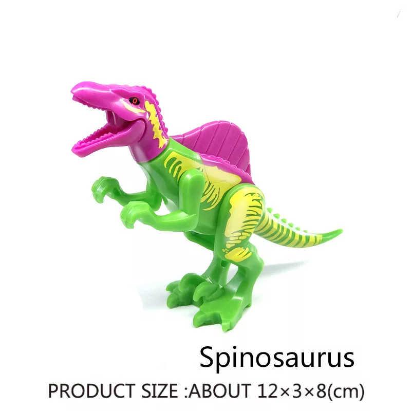 Jurassic Park MINI Dinosauro Del Mondo di Dinosauri Figure zona di protezione Raptor Building Blocks Set Giocattolo Per Bambini giocattoli Animali