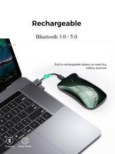 Bluetooth Mouse Ergonomic Computer Optical-Mice Laptop Macbook Mini-Usb Silent Rechargeable