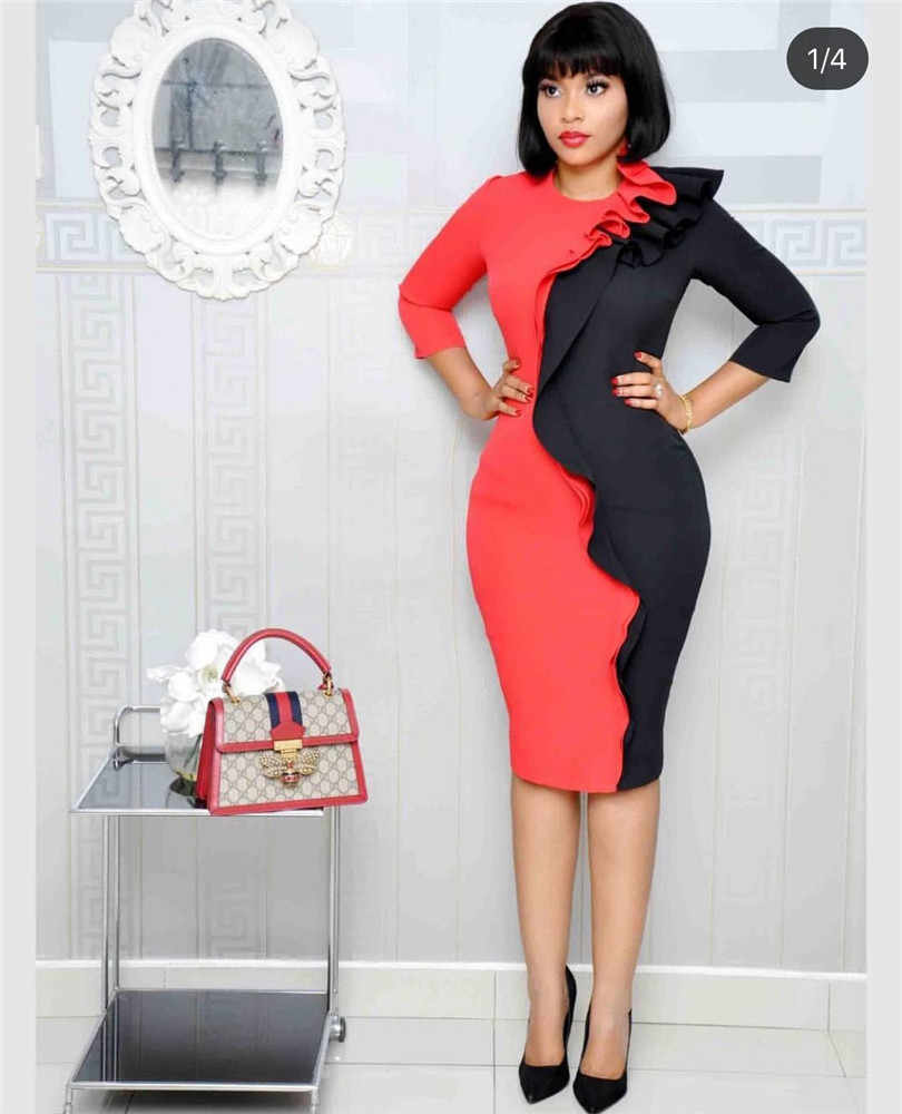 Afrikanische kleider für frauen 2019 neue afrikanische overall bazin riche rot kleid africaine femme ankara kleid designer plus größe