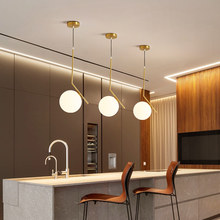 Nordic Minimalist LED Pendant Light Glass Ball Golden Star For Living Room Bedroom Kitchen Creative Iron Hanging Lamp Home Decor