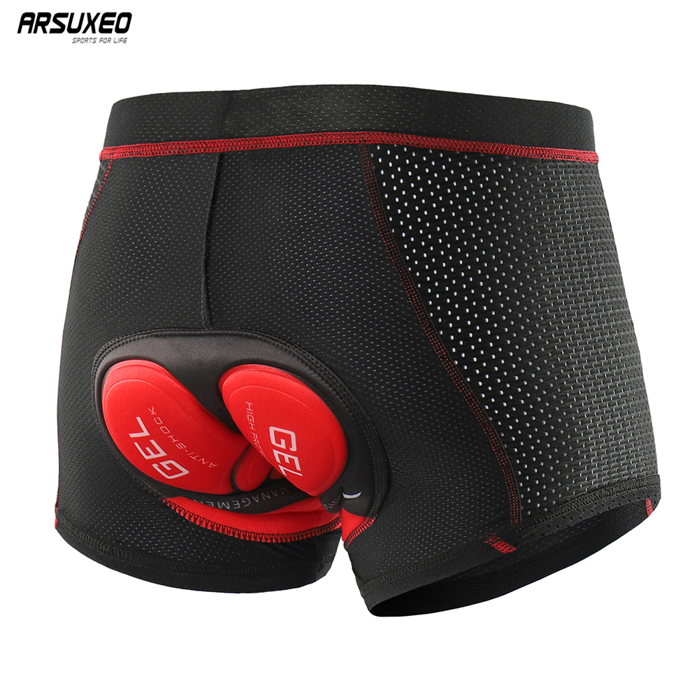 ARSUEXO 2019 Upgrade Cycling Underwear Pro 5D Gel Pad Mountain Bike MTB Shorts Shockproof  Road  Bicycle Underpants Breathable