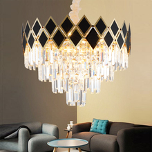Simple Crystal Chandelier LED Personality Villa Restaurant Bedroom Living Room Round Modern Decorative Light modern simple duplex staircase led bubble column living room chandelier rotating villa ceiling crystal column led crystal lights