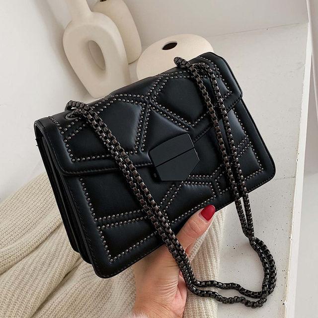 Rivet Chain Small Crossbody Bags For Women 2020