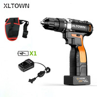 XLTOWN 25V electric screwdriver high quality hand drill rechargeable lithium battery two speed electric screwdriver Power Tool