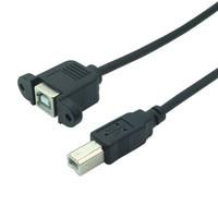USB B maschio a femmina M/F cavo di prolunga vite blocco montaggio a pannello per stampante 0.3M 0.5M