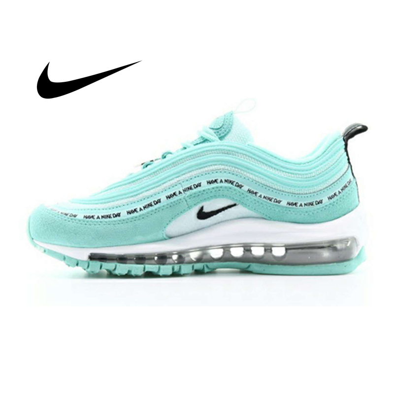 Nike Air Max 97 Women Fashion Sneakers Classic Leisure Wild Running Shoes Shock Absorption Jogging Fitness Footwear 923288-300