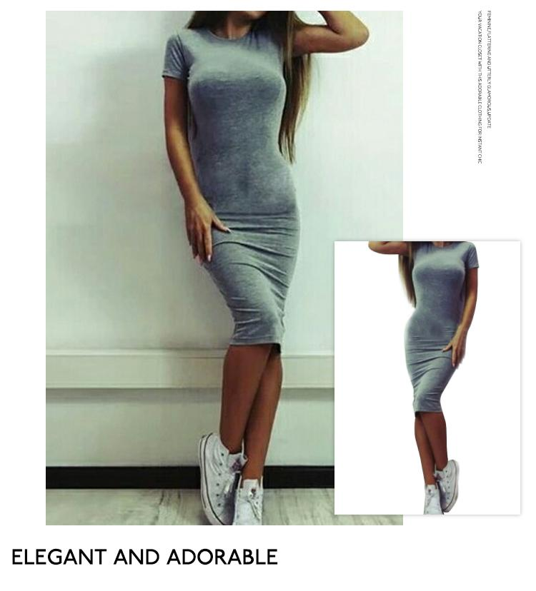 H811af213749644debce1f0e63a5041e6k 2019 Autumn Hot Slim Bodycon Dress Women Solid Color Chic Party Dresses Casual Sleep Wear Inside Wear Vestidos Pencil Dress