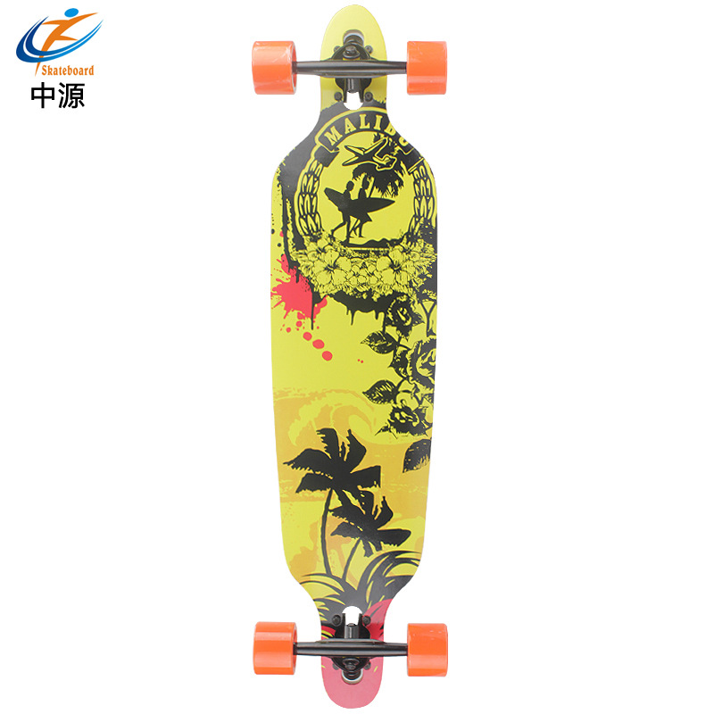 SOURCE Skateboard New Style Maple Board Anti-slip Long Board Four Wheel Skateboard Adult Children's Skateboard Profession Manufa