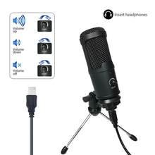 FANGTUOSI 2021 NEUE USB Mikrofon PC kondensator Mikrofon Gesang Aufnahme Studio Mikrofon Für YouTube Video Chat Podcast