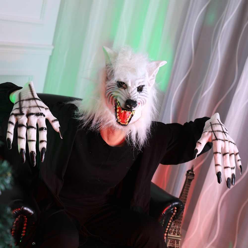 Maschera di Halloween Maschera Testa di Lupo Maschera Partito Dramma in Costume in Lattice Puntelli Romanzo Maschera in Lattice Forniture di Vacanza