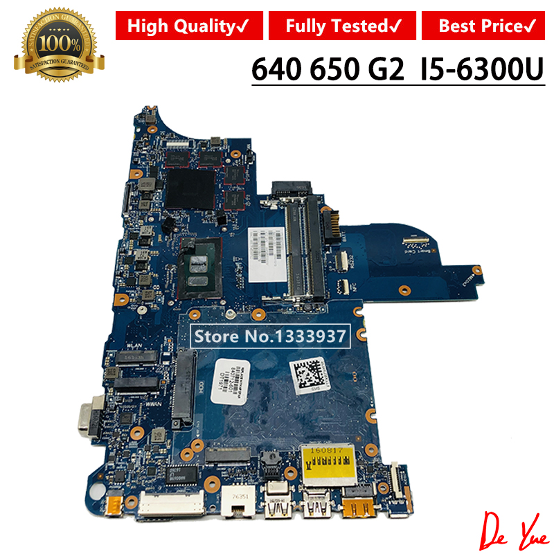 840712-001 840712-501 840712-601 for HP 640 G2 <font><b>650</b></font> G2 series laptop motherboard <font><b>i5</b></font>-6300 CPU 6050A2723701-MB-A02 Mainboard image