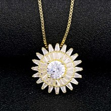 Custom Personality Classic Geometric Wedding Crystal Pendant Necklace For Women Trendy Rhinestone Collar Necklace CZ Jewelry charming geometric colored artificial gem rhinestone fake collar necklace and earrings for women