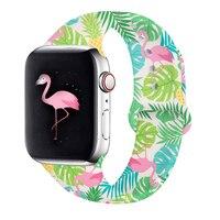 Cinturino in Silicone per Apple Watch 40mm 44mm 38mm 42mm cinturino sportivo doppio lato stampato cinturino per iwatch serie 6 SE 5 4 3 2 1
