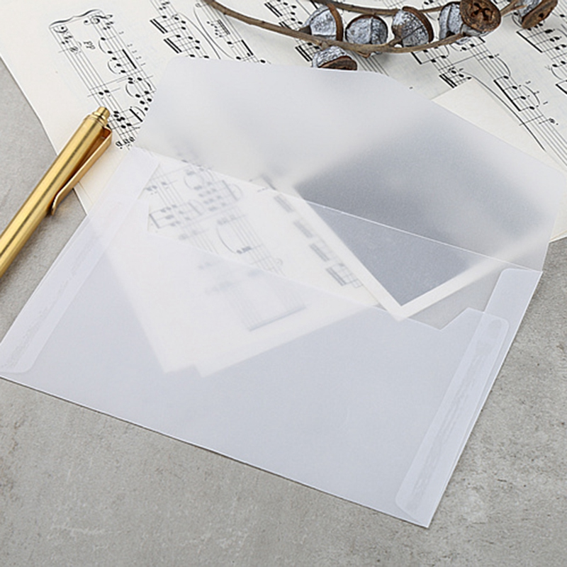 50Pcs Translucent Blank White Parchment Paper Envelope Postcards Invitations Cover Envelopes