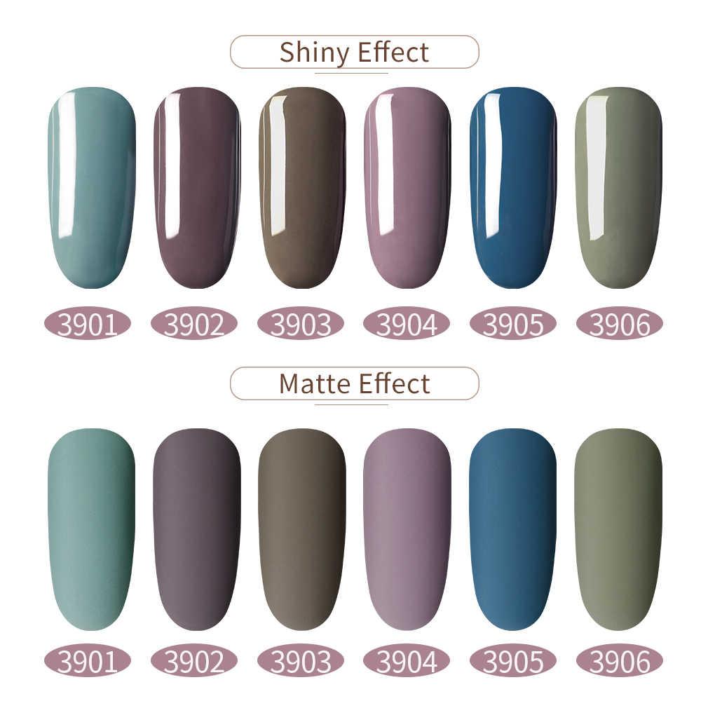 Elite99 10ml Matt Pure Color UV UV เจล Polish Soak Off เจลทาเล็บเล็บเจลเล็บสี GelLak เล็บ Matte Top Coat