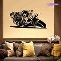 Moto gp motocicleta de corrida adesivo veículo decalque marc marquez posters parede vinil pegatina decoração mural