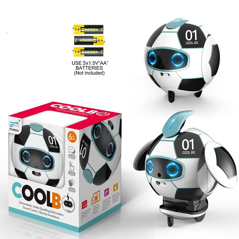 Boys Girls Robot Toy For Kids With Talking Singing Dancing Interactive Deformation Soccer Robots With Repeat Educational Gifts