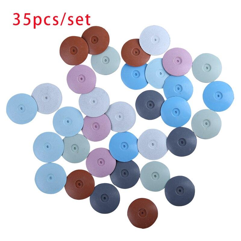 35 pcs ilicone silica gel polimento rodas para joias dental ferramenta rotativa laboratorio dental disco de