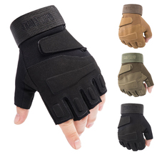 Tactical Cycling Gloves  Half Finger Shockproof Bike Gloves Protection Climbing Hunting Mountaineering Outdoor Sports Gloves