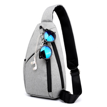 Male Chest Bag Crossbody Bag for College Students Travel 2020 Fit 9.7 Inch Ipad Messenger Bag Drop Shipping