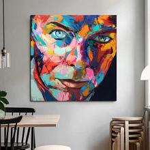 Europe Abstract Canvas Painting Face Oil Reproductions On Posters And Prints Wall Art Pictures For Living Room