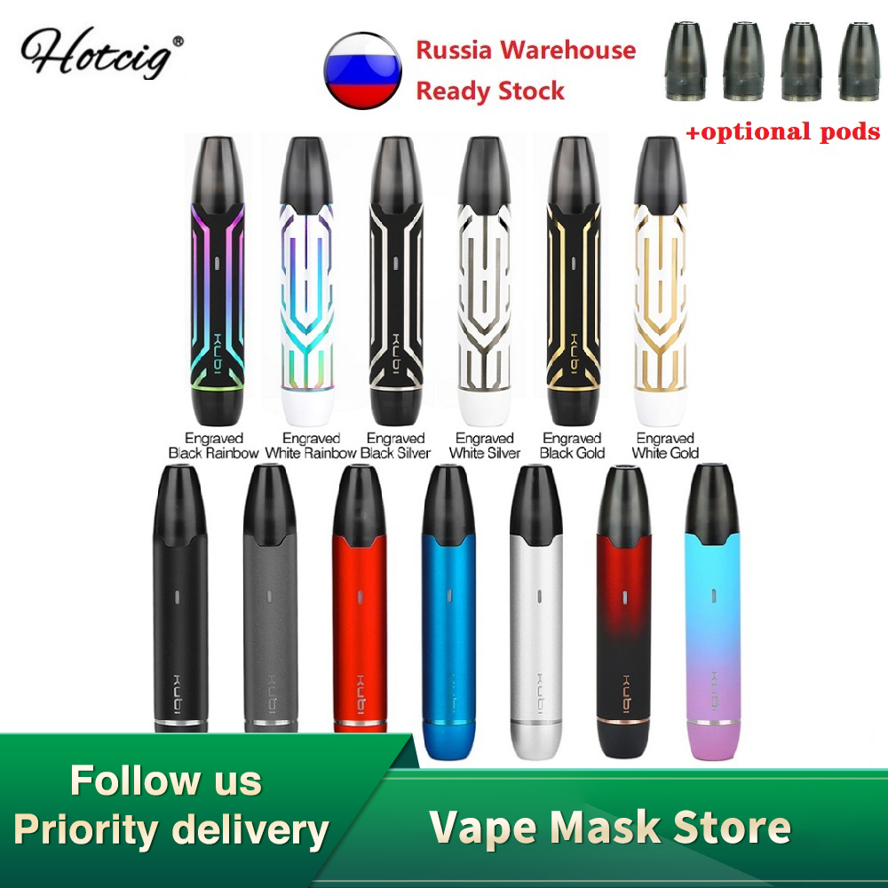 NEW Original Hotcig Kubi Pod Vape Kit With Built-in 550mAh Battery & 1.7ml Pod System Vape Kit Vs Minifit/  Renova Zero/ VINCI X