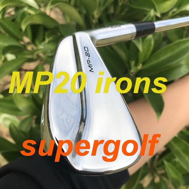 2020 golf wysokiej jakości żelazka MP20 żelazka kute zestaw (3 4 5 6 7 8 9 P) z KBS Tour 90 sztywny wał stalowy 8 sztuk kluby golfowe