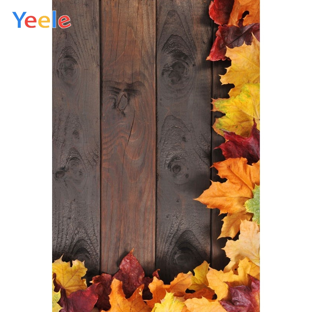 Yeele Autumn Backdrop Farm Leaves Wood Board Baby Shower Kids Children Birthday Background Photo studio Pet Photocall Photophone in Background from Consumer Electronics