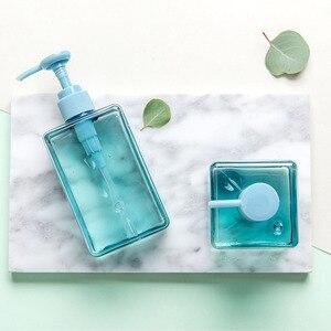 Image 2 - 100,150,280ml Trasparente Riutilizzabile Barattolo Vuoto Portatile della Bottiglia di Emulsione di Plastica Contenitore di Viaggi Shampoo Liquido Trasparente