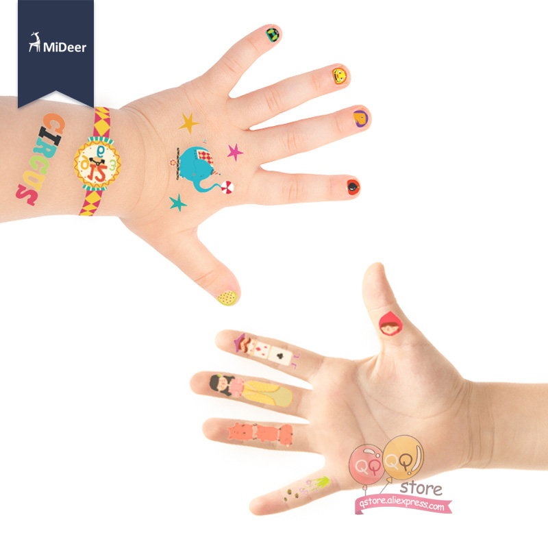 Kids Toys Waterproof Temporary Tattoo Nail Stickers kit Art Craft Set Girls Toys For Children Fashion MiDeer Birthday Party Game 2