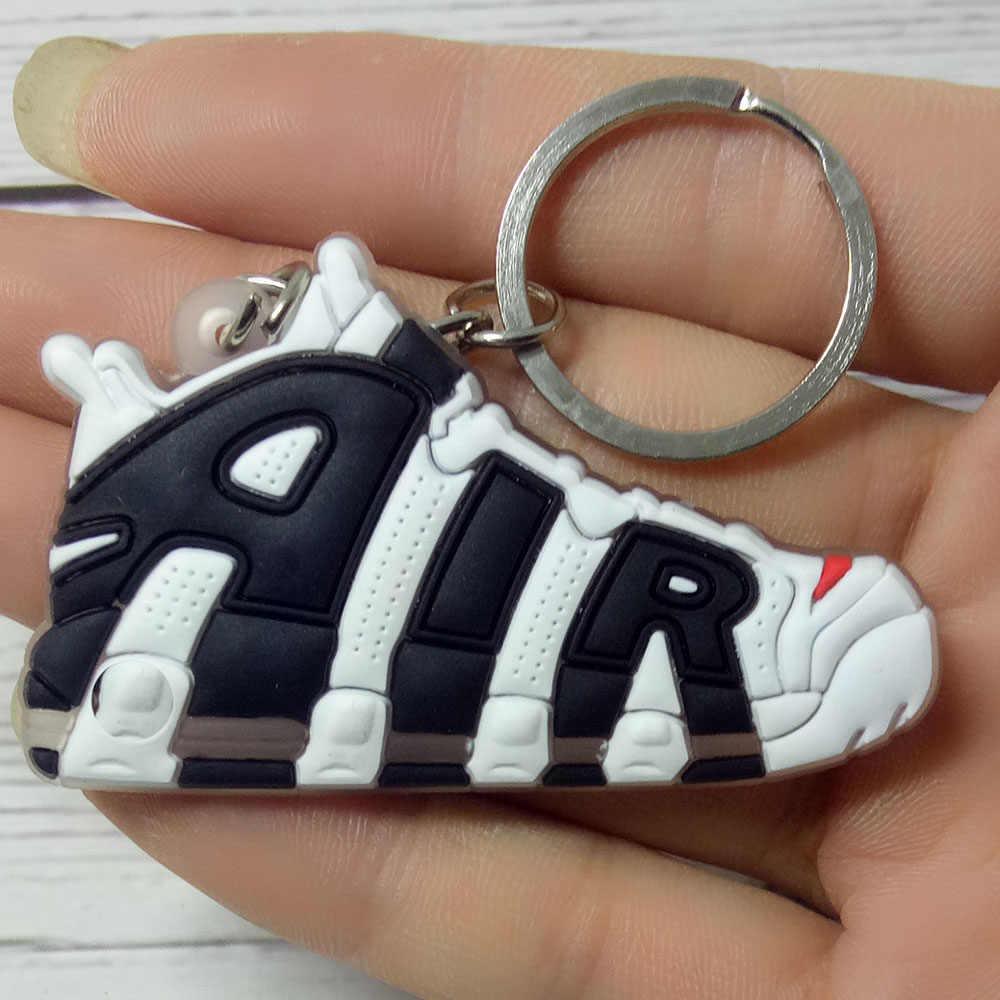 Mini silikonowe buty brelok breloczek Sneaker breloczek buty do koszykówki brelok dla kobiet kids party prezent