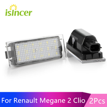 Car LED License Plate Light For Renault Megane 3 Clio Laguna 2 Twingo Master Vel Satis Opel Movano Number Lamps