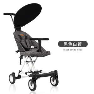 Image 3 - 2019 New simple pure color dexterous baby stroller comfortable multifunctional baby stroller