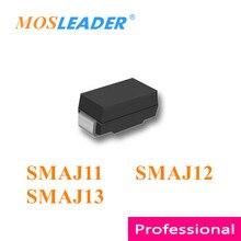Mosleader 1800 قطعة SMAJ11 SMAJ12 SMAJ13 SMA DO214AC الصينية TVS SMAJ11A SMAJ12A SMAJ13A SMAJ11CA SMAJ12CA SMAJ13CA