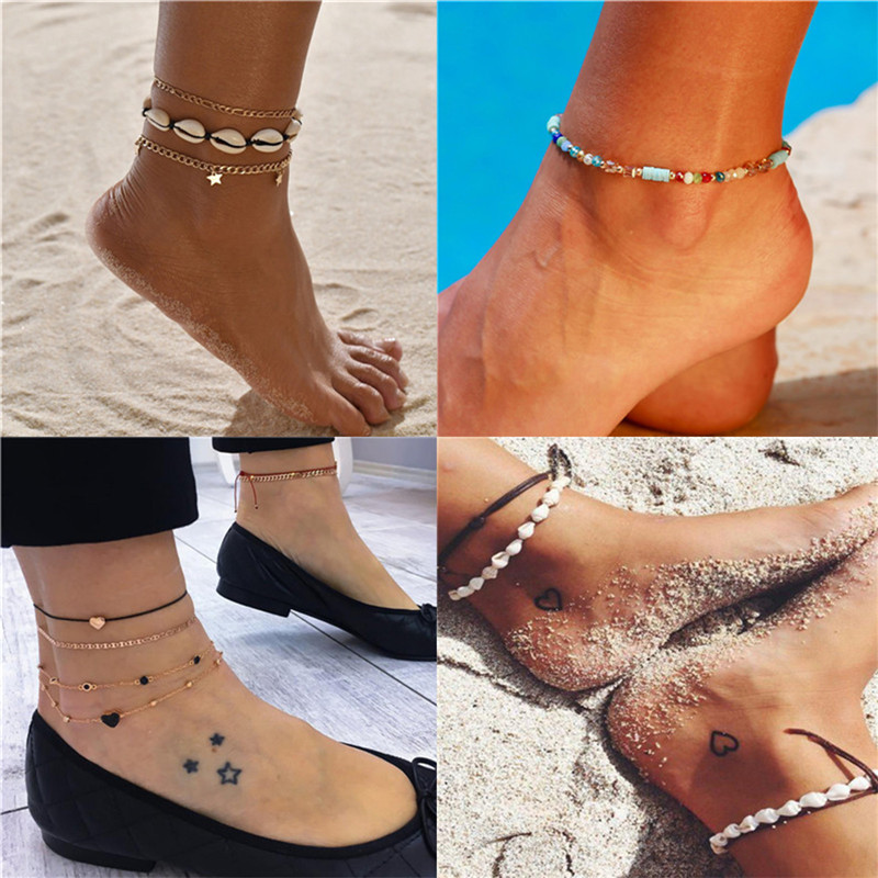 2020 Hot Sale Anklets For Women Foot Accessories Summer Beach Barefoot Sandals Bracelet ankle on the leg Female Ankle