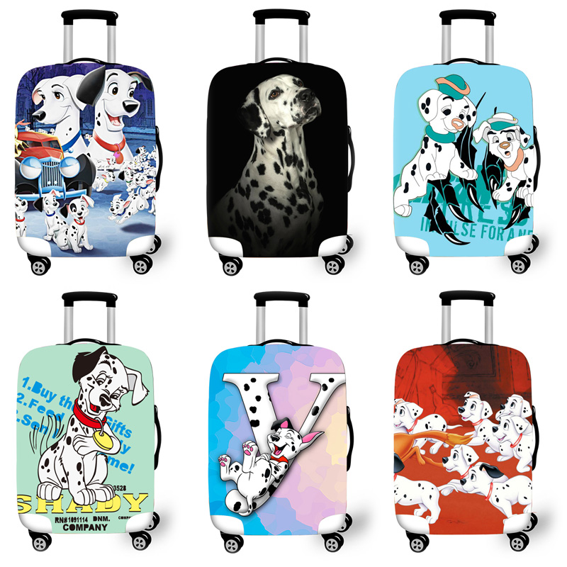 Elastic Luggage Protective Cover Case For Suitcase Protective Cover Trolley Cases Covers 3D Travel Accessories Dalmatian Pattern