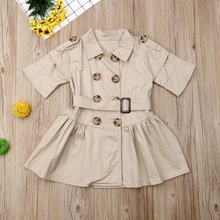 Turn-down collar pattern baby Girl clothes Summer short sleeve dress Kids Clothes print Casual print cotton dresses new arrival baby dress 2017 spring summer casual style baby girls dress bow baby dress turn down collar kids clothes