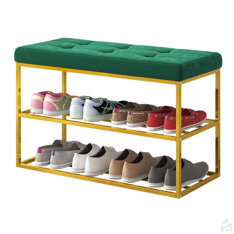 H1 Shoe Bench Home Doorway Shoe Stool Can Sit Shoe Rack Rectangular Stool Simple Shoe Rack European Storage Stool Bench Cheap